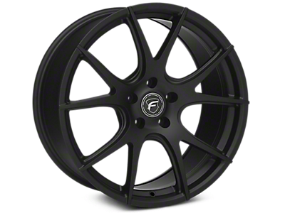 Matte Black Forgestar CF5V Monoblock Wheels<br />('10-'14 Mustang)