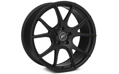 Matte Black Forgestar CF5V Monoblock Wheels 2005-2009