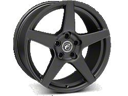 Matte Black Forgestar CF5 Wheels<br />('15-'21 Mustang)