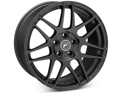 Matte Black Forgestar F14 Wheels<br />('15-'20 Mustang)