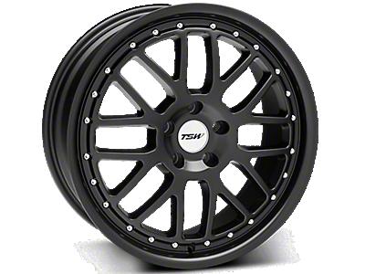 Matte Black TSW Valencia Wheels<br />('99-'04 Mustang)