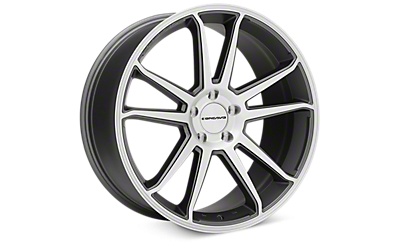 Matte Gray Machined Concavo CW-S5 Wheels 2005-2009