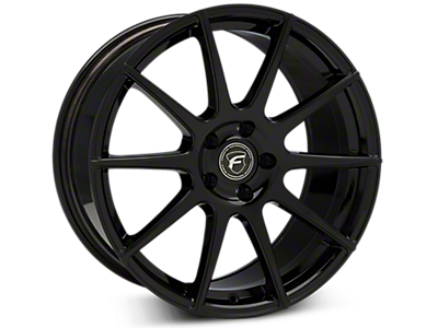 Piano Black Forgestar CF10 Wheels<br />('15-'20 Mustang)