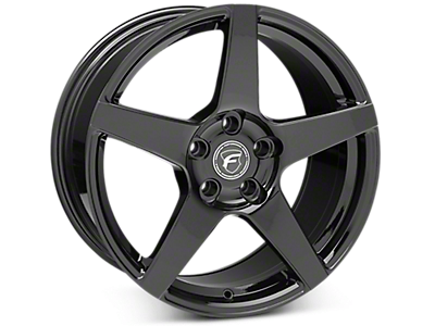 Piano Black Forgestar CF5 Wheels<br />('15-'20 Mustang)