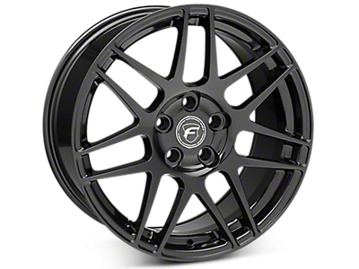 Piano Black Forgestar F14 Wheels<br />('15-'20 Mustang)