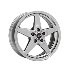 Polished Race Star Drag Star Wheels (1987-1993 5 Lug Conversion)