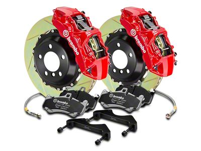 Brembo GT Series 6-Piston Front Brake Kit - 2-Piece Cross Drilled Rotors - Red (04-08 RAM 1500)