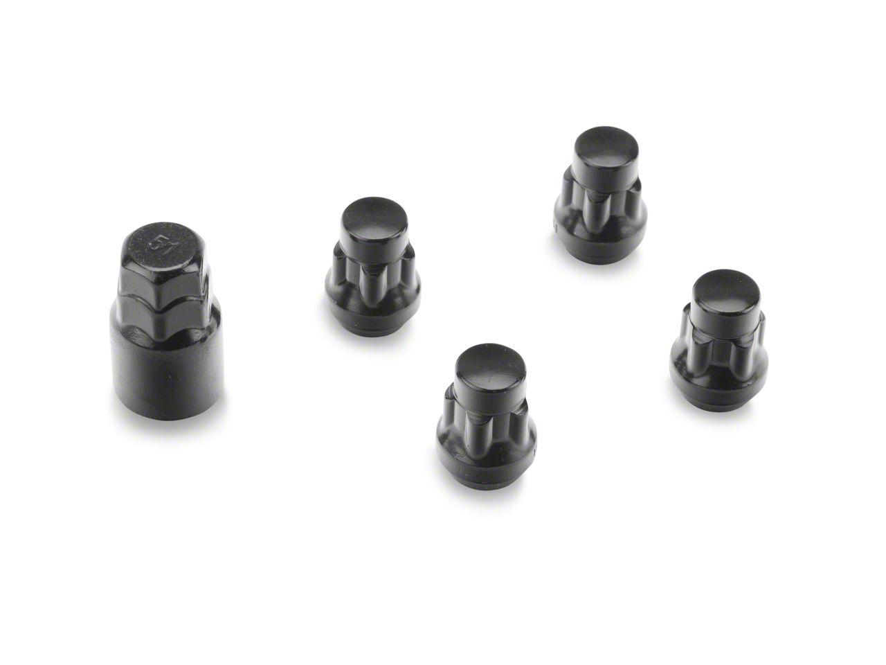 Coyote Locks with Key for Black Acorn Lug Nuts - 14mm x 1.5 (12-18 RAM 1500)