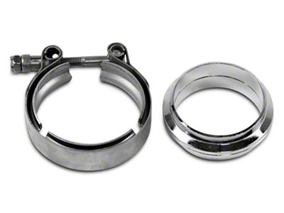 GMS 2.5 in. Mating Flat Flange w/ V-Band Exhaust Clamp - Mild Steel (02-19 RAM 1500)