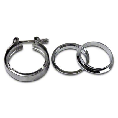 GMS 3 in. Mating Male to Female Interlocking Flange w/ V-Band Exhaust Clamp - Stainless Steel (02-19 RAM 1500)