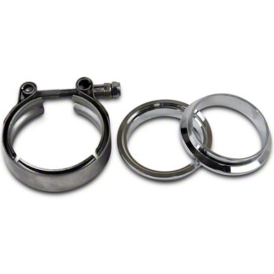 GMS 3 in. Mating Male to Female Interlocking Flange w/ V-Band Exhaust Clamp - Mild Steel (02-19 RAM 1500)