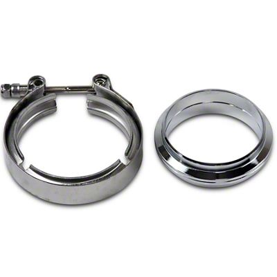 GMS 3 in. Mating Flat Flange w/ V-Band Exhaust Clamp - Stainless Steel (02-19 RAM 1500)