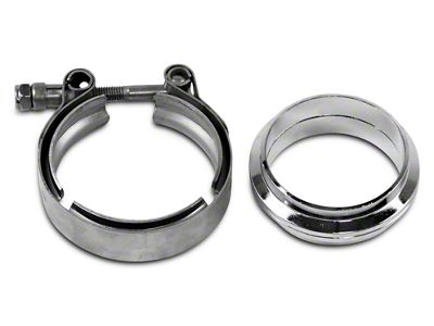 GMS 3 in. Mating Flat Flange w/ V-Band Exhaust Clamp - Mild Steel (02-19 RAM 1500)