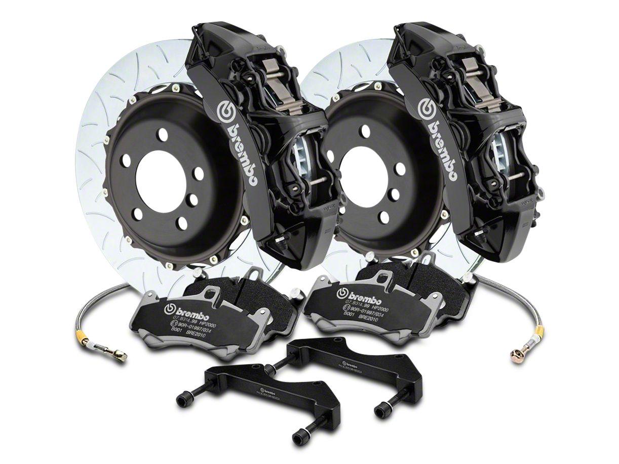 Brembo GT Series 6-Piston Front Brake Kit - Type 3 Slotted Rotors - Black (04-08 RAM 1500)