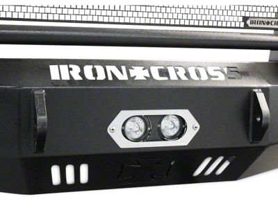 Iron Cross Center Light Bracket w/ Two Round LED Lights for Iron Cross HD Base Front Bumper