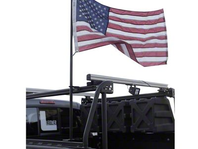 Leitner Designs Bed Rack Flag Pole Kit (02-19 RAM 1500)