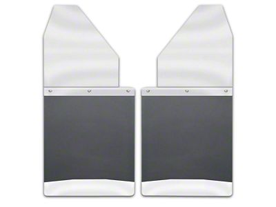 Husky 14 in. Wide KickBack Mud Flaps - Stainless Steel Top & Weight (04-18 RAM 1500)