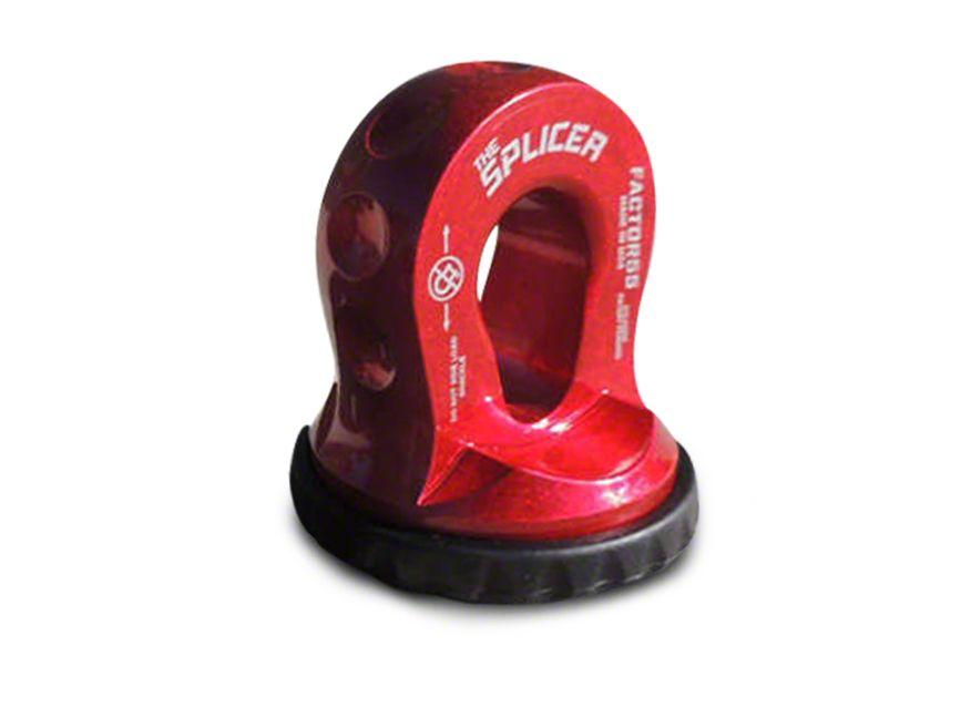 Factor 55 Splicer Shackle Mount - Red (02-19 RAM 1500)