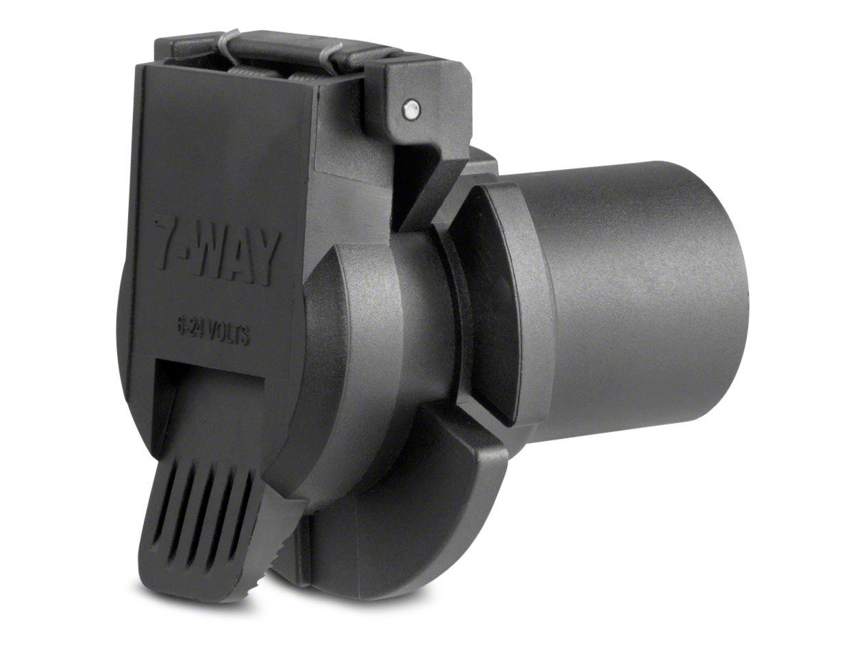 Curt Manufacturing Replacement 7-Way Round OEM Socket - Twist-In Installation (09-18 RAM 1500)