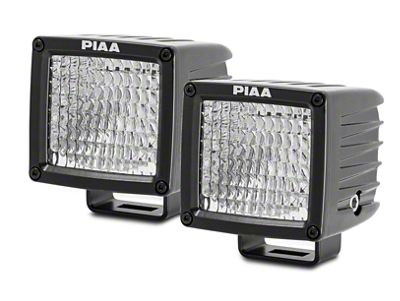 PIAA RF Series 3 in. LED Light Cubes - Flood Beam - Pair