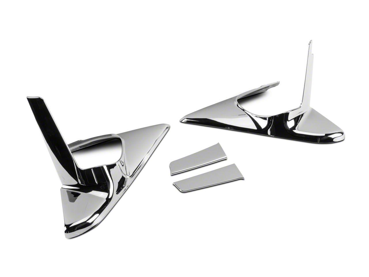 Chrome Mirror Base Covers (10-18 RAM 1500 w/ Tow Mirrors & Turn Signals)