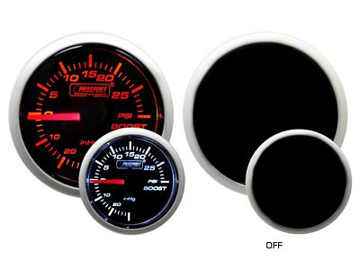 Prosport Dual Color 30 PSI Boost/Vac Gauge - Mechanical - Amber/White (02-19 RAM 1500)