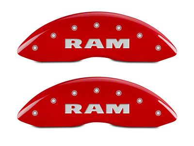 MGP Red Caliper Covers w/ RAM Logo - Front & Rear (02-05 RAM 1500, Excluding SRT-10)