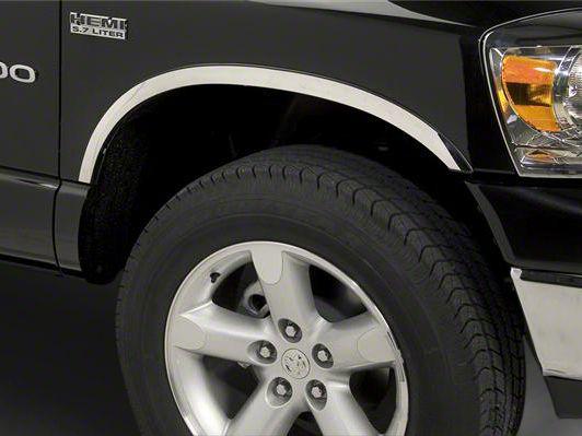 Putco Stainless Steel Fender Trim - Covers Top Half of Wheel Well (02-08 RAM 1500)