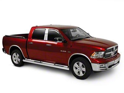 Putco Element Tinted Window Visors - Channel Mount - Fronts Only (09-18 RAM 1500 Quad Cab, Crew Cab)