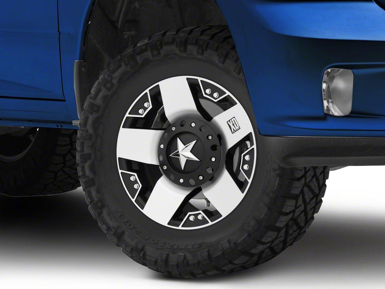 Rockstar XD775 Black Machined 5-Lug Wheel - 17x9 (02-18 RAM 1500, Excluding Mega Cab)
