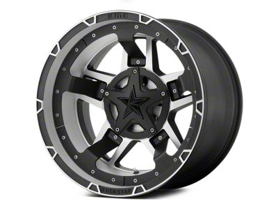 Rockstar XD827 RS3 Matte Black Machined 5-Lug Wheel - 17x8 (02-18 RAM 1500, Excluding Mega Cab)