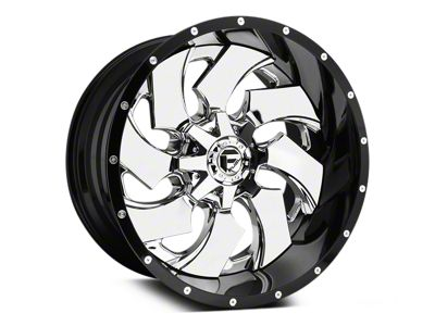 Fuel Wheels Cleaver Chrome w/ Gloss Black Lip 5-Lug Wheel - 20x10 (02-18 RAM 1500, Excluding Mega Cab)