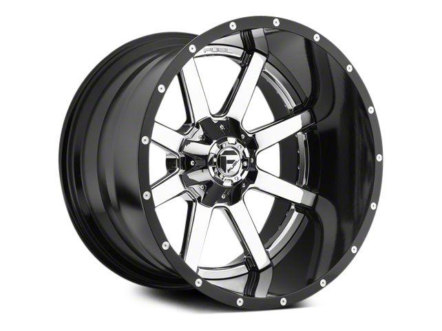 Fuel Wheels Maverick Chrome w/ Gloss Black Lip 5-Lug Wheel - 20x10 (02-18 RAM 1500, Excluding Mega Cab)