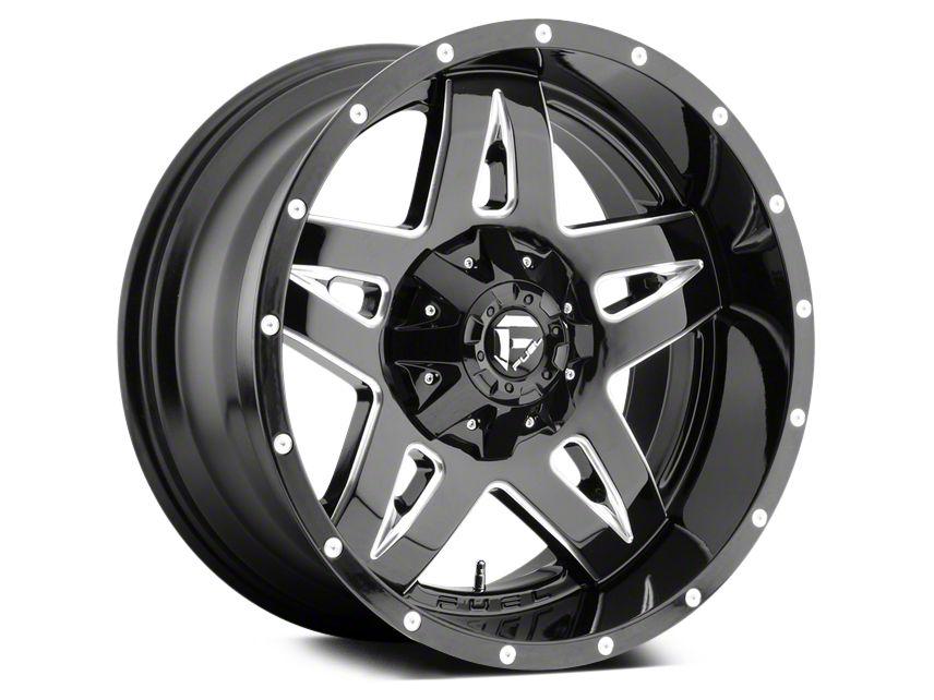 Fuel Wheels Full Blown Black Milled 5-Lug Wheel - 20x10 (02-18 RAM 1500, Excluding Mega Cab)
