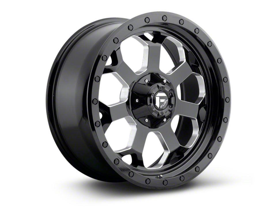 Fuel Wheels Savage Black Milled 5-Lug Wheel - 20x9 (02-18 RAM 1500, Excluding Mega Cab)