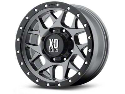 XD Bully Matte Gray w/ Black Ring 5-Lug Wheel - 20x9 (02-18 RAM 1500, Excluding Mega Cab)