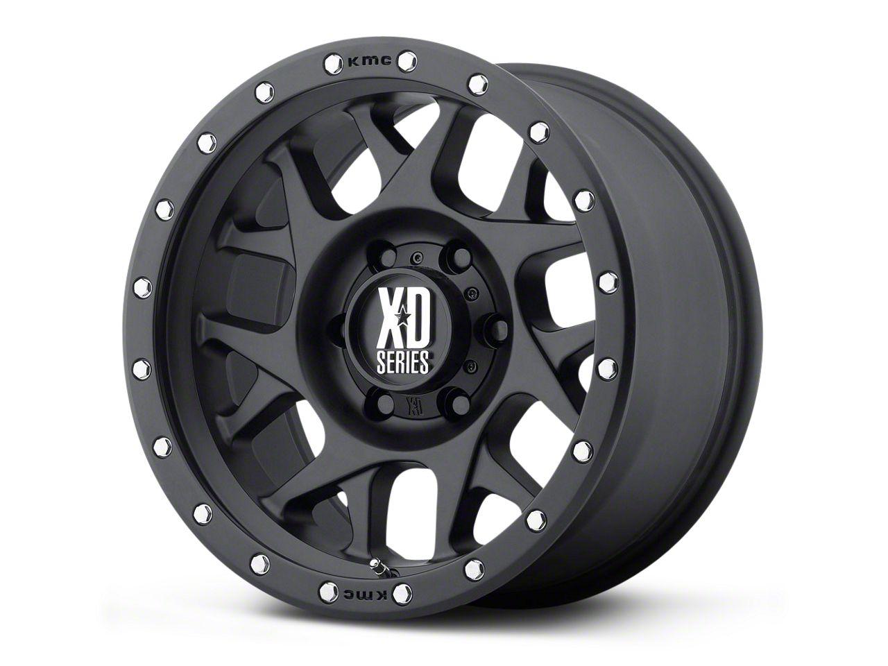 XD Bully Satin Black 5-Lug Wheel - 17x8.5 (02-18 RAM 1500, Excluding Mega Cab)