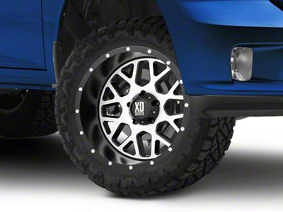 XD Grenade Satin Black Machined 5-Lug Wheel - 20x10 (02-18 RAM 1500, Excluding Mega Cab)
