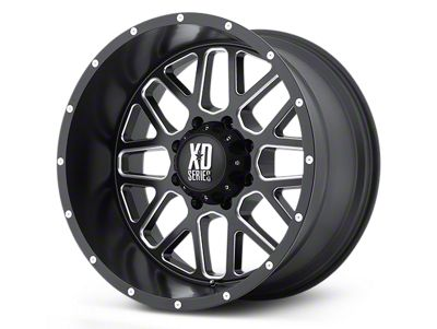 XD Grenade Satin Black Milled 5-Lug Wheel - 22x9.5 (02-18 RAM 1500, Excluding Mega Cab)