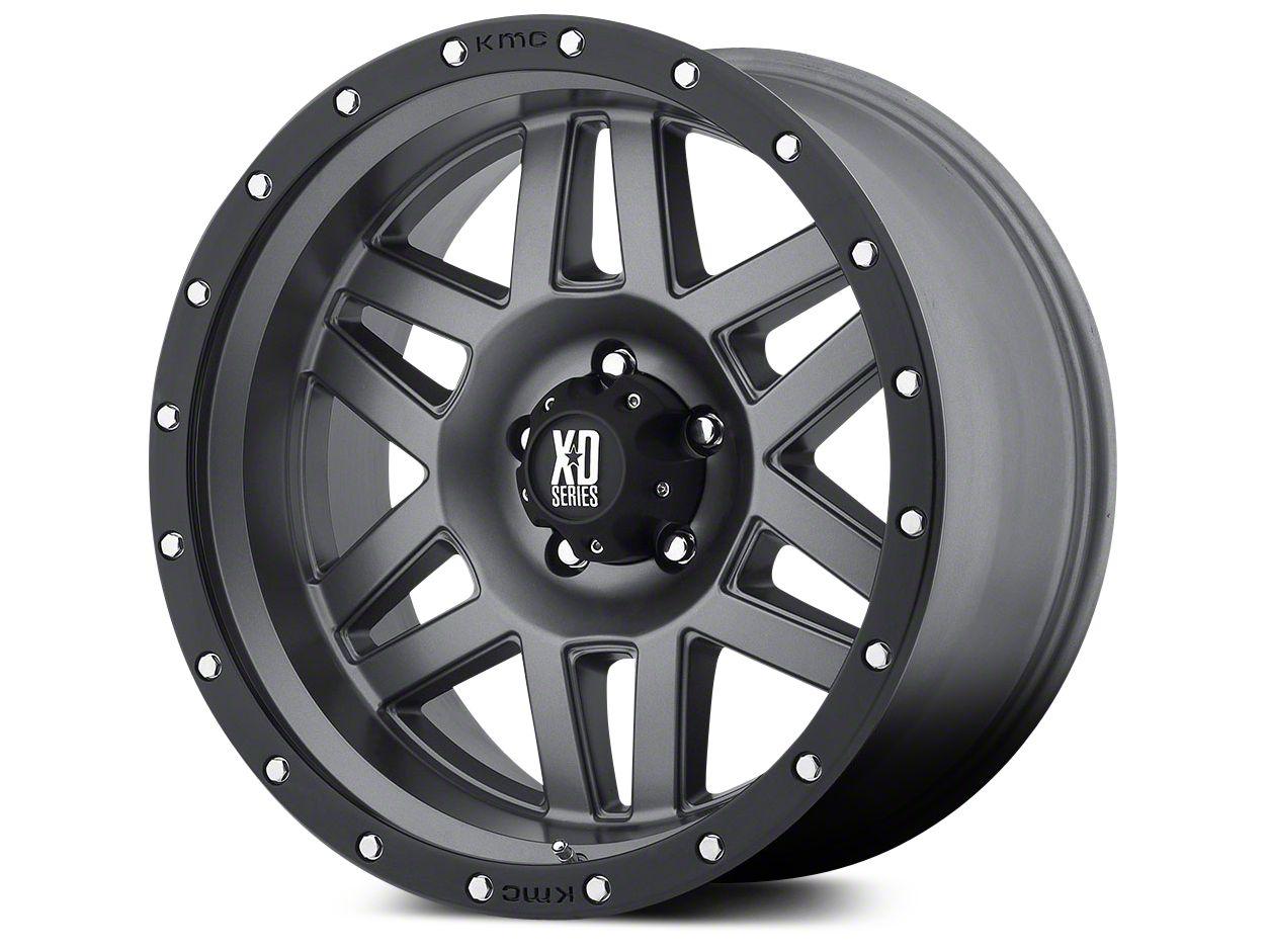 XD Machete Matte Gray w/ Black Ring 5-Lug Wheel - 20x9 (02-18 RAM 1500, Excluding Mega Cab)