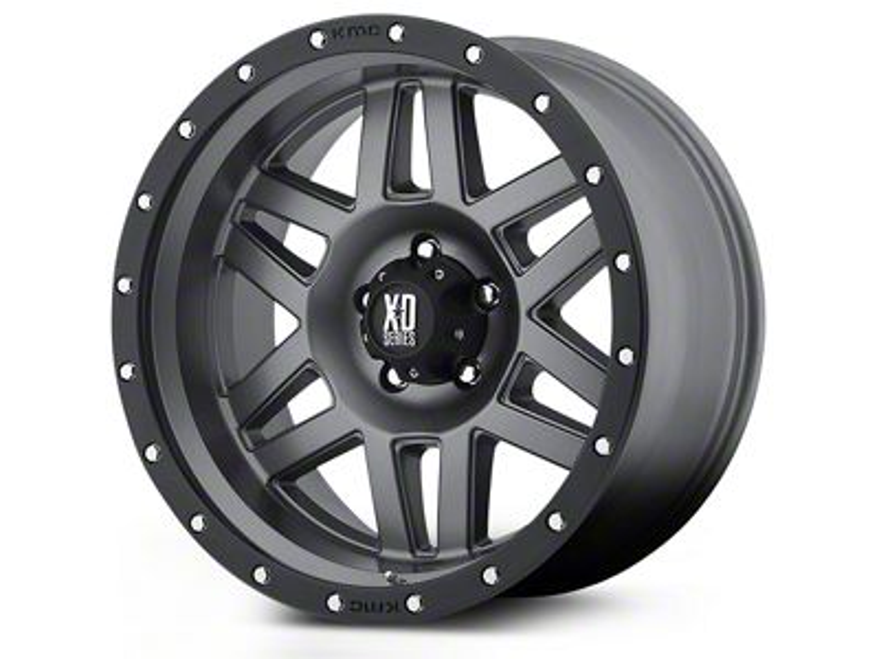 XD Machete Black Machined 5-Lug Wheel - 17x9 (02-18 RAM 1500, Excluding Mega Cab)