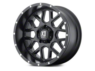 XD Grenade Satin Black 5-Lug Wheel - 20x9 (02-18 RAM 1500, Excluding Mega Cab)