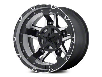 Rockstar XD827 RS3 Matte Black Machined 5-Lug Wheel - 20x10 (02-18 RAM 1500, Excluding Mega Cab)