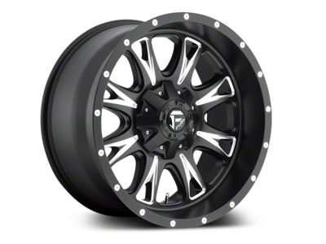 Fuel Wheels Throttle Black Milled 5-Lug Wheel - 18x9 (02-18 RAM 1500, Excluding Mega Cab)