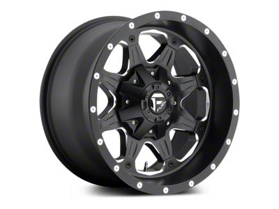 Fuel Wheels Boost Black Milled 5-Lug Wheel - 20x9 (02-18 RAM 1500, Excluding Mega Cab)
