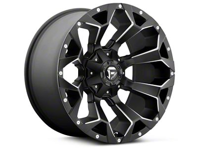 Fuel Wheels Assault Black Milled 5-Lug Wheel - 17x8.5 (02-18 RAM 1500, Excluding Mega Cab)