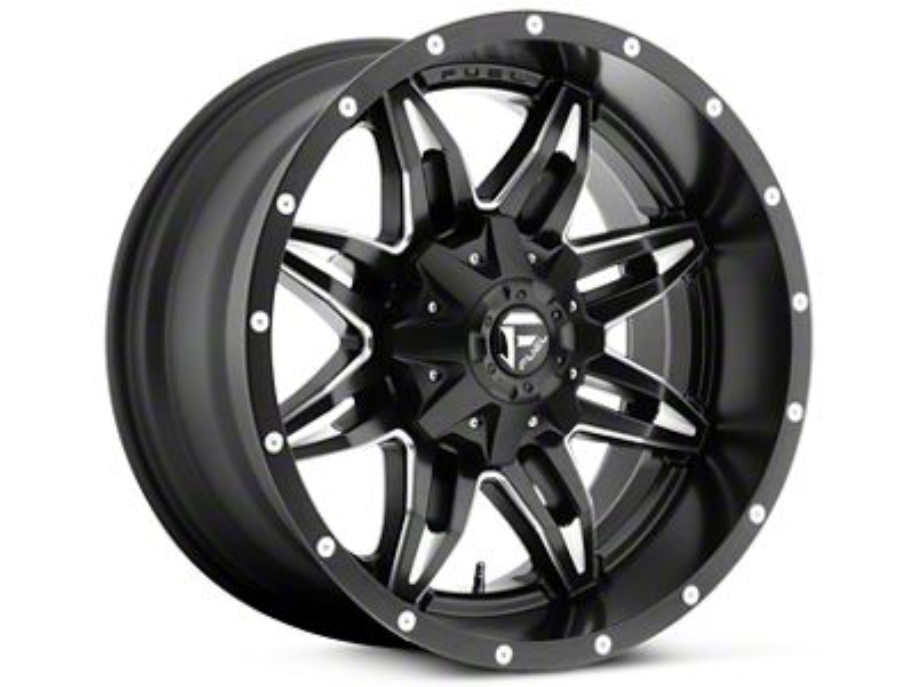 Fuel Wheels Lethal Black Milled 5-Lug Wheel - 20x9 (02-18 RAM 1500, Excluding Mega Cab)
