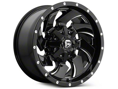 Fuel Wheels Cleaver Black Milled 5-Lug Wheel - 18x9 (02-18 RAM 1500, Excluding Mega Cab)