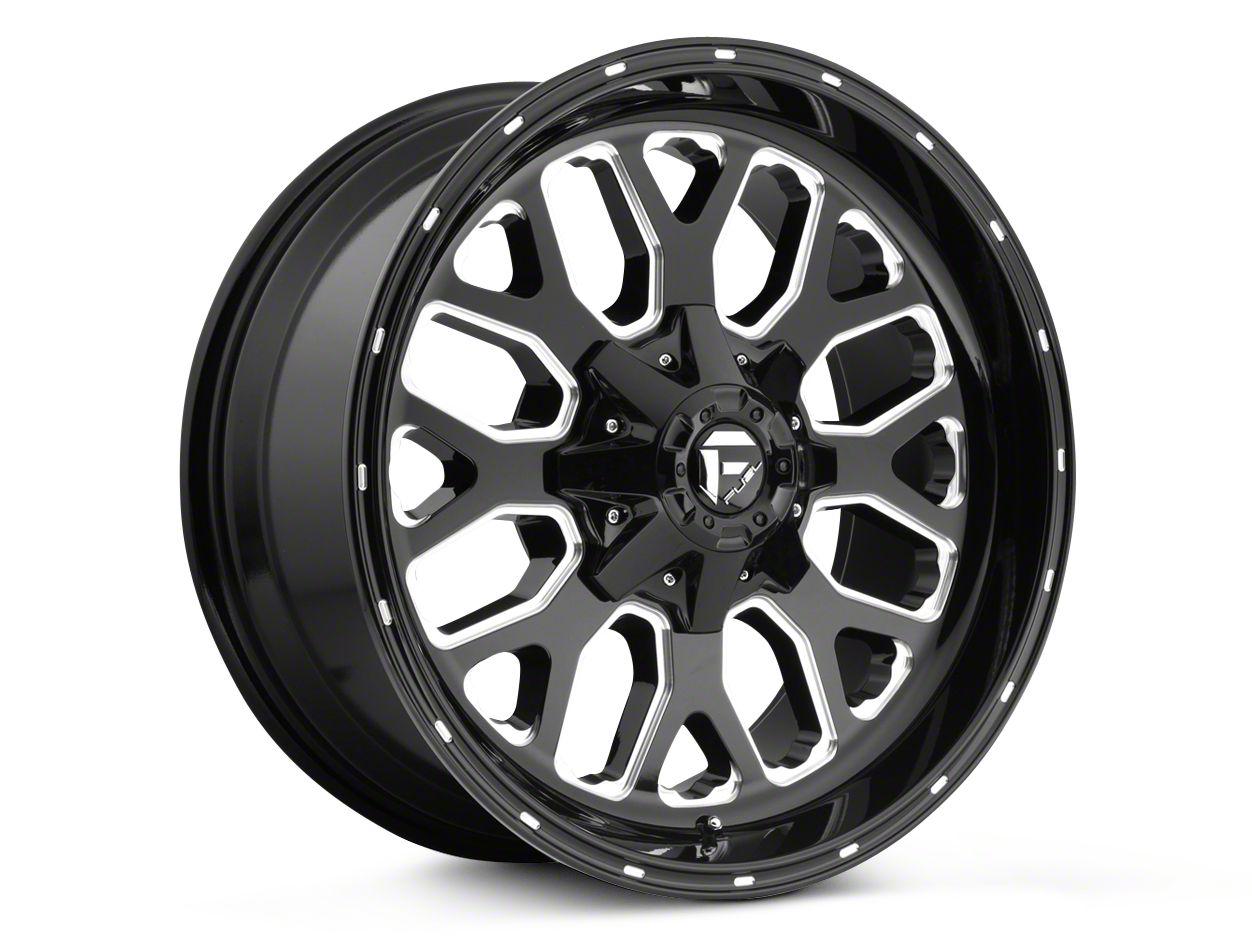 Fuel Wheels Titan Black Milled 5-Lug Wheel - 20x9 (02-18 RAM 1500, Excluding Mega Cab)