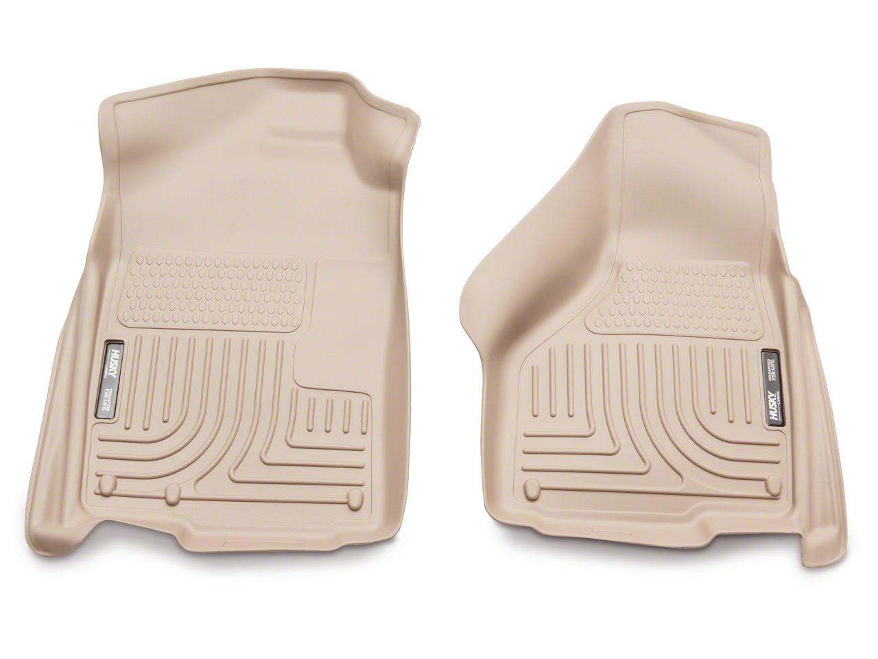 Husky WeatherBeater Front Floor Liners - Tan (02-18 RAM 1500)